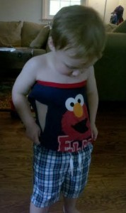 How about my Elmo tube top?