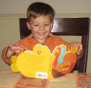 My eldest son on Thanksgiving, age 2.5
