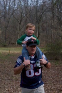 Carry me, Daddy!