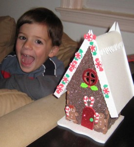 A foam Gingerbread House kit is SO much easier than a real one