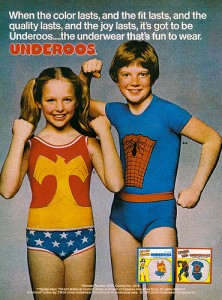 Underoos - this is not me and my brother