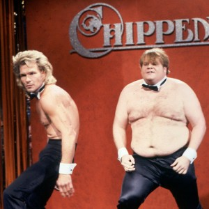 Patrick Swayze and Chris Farley spoof Chippendales on SNL