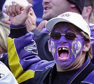 Crazy Ravens fan