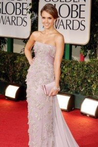 Jessica Alba at the 2012 Golden Globes