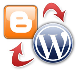 blog logos, WordPress and Blogger