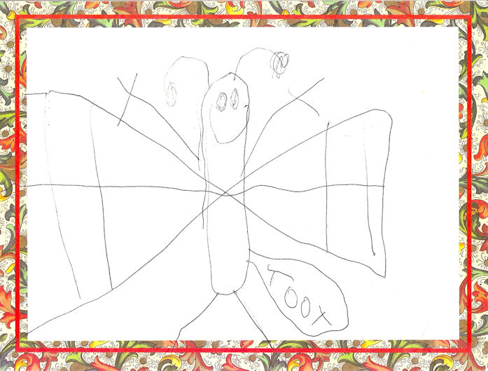 The Flatulent Butterfly, by Miles, age 5