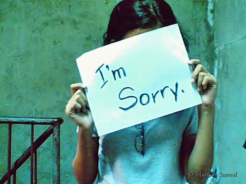 I'm Sorry photo, via Creative Commons