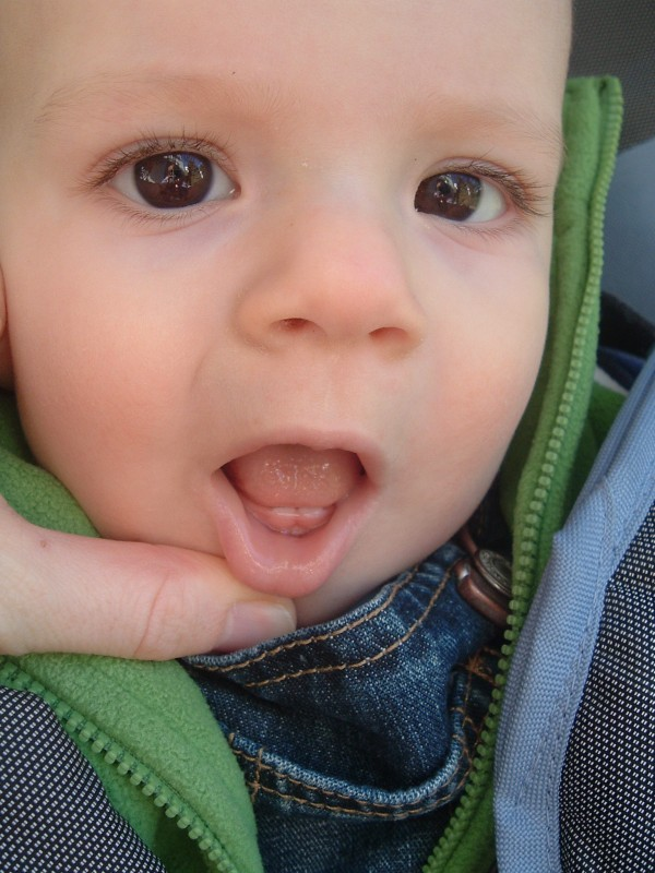 Miles' first teeth