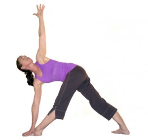 Revolved triangle yoga pose