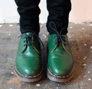 Green Doc Martins
