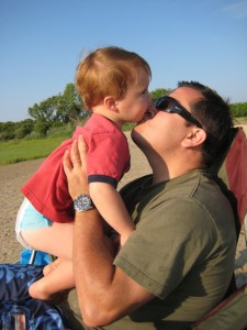 A kiss from Daddy