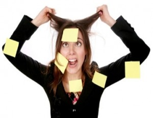 Crazy Post-It lady