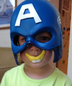 Captain America with buck teeth