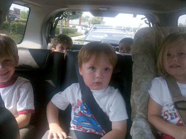 5 kids in 1 car