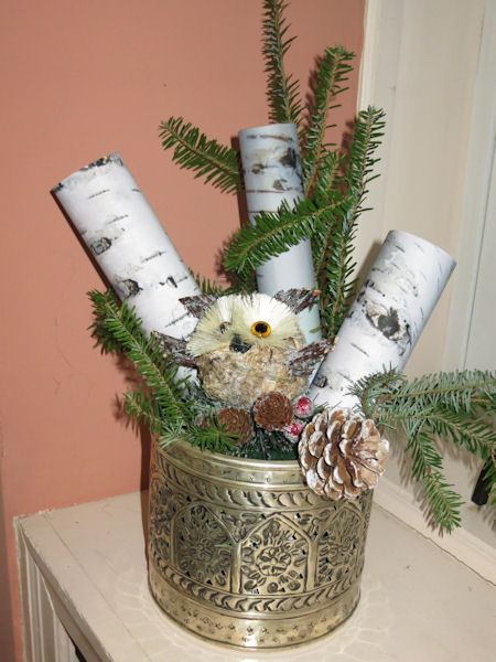 Birch bark arrangement