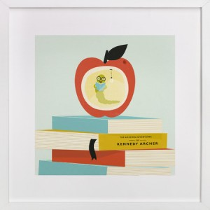 Bookworm art print by Angela Marzuki on Minted.com