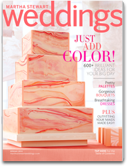 cake on cover of Martha Stewart Weddings