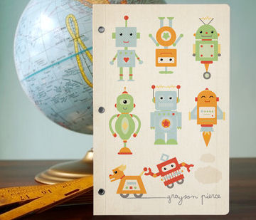 robots! journal by Dawn Jasper on Minted.com