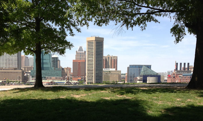view of Baltimore skyline