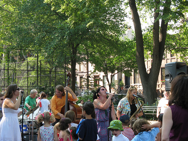 outdoor concert in the park