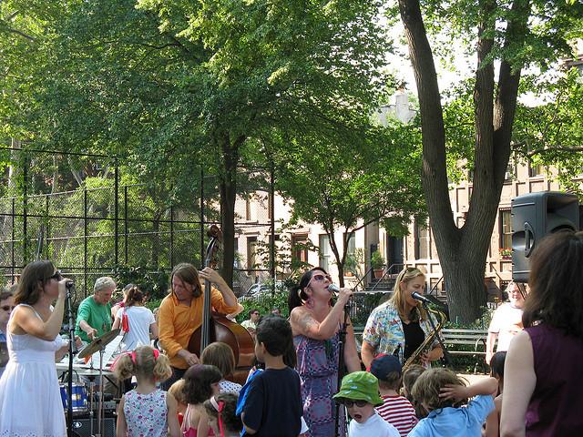outdoor concert in the park
