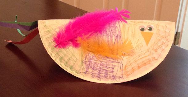 paper-plate bird
