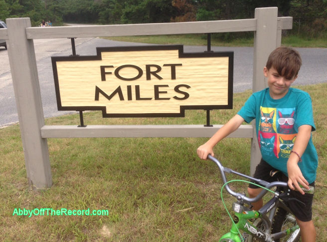 my son, Miles, at Fort Miles, DE
