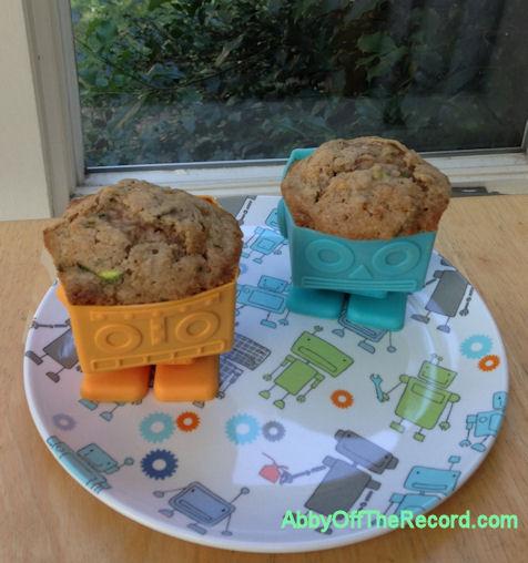 zucchini muffin robots