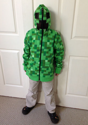 Creeper costume from Minecraft