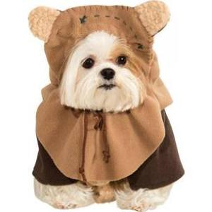 dog dressed in Ewok costume
