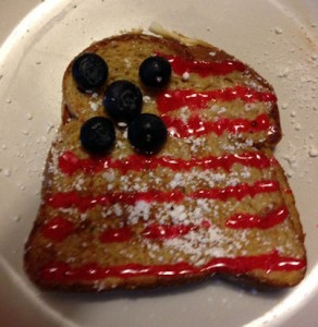 Fourth of July French toast