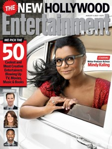 Mindy Kaling on the cover of Entertainment Weekly