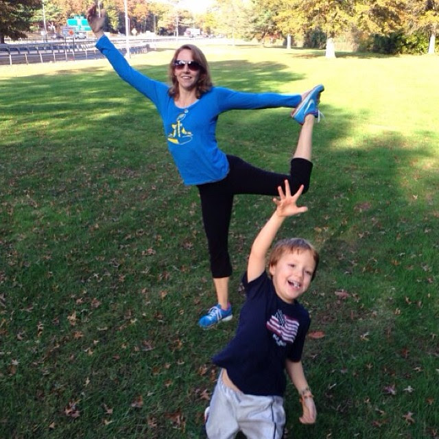 doing yoga at a rest stop in CT