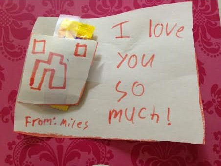 Minecraft Valentine made by my son