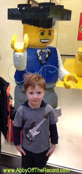 Riley at the Lego store