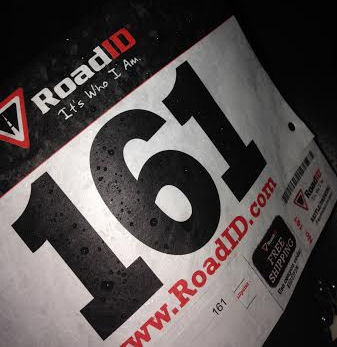 race number with raindrops