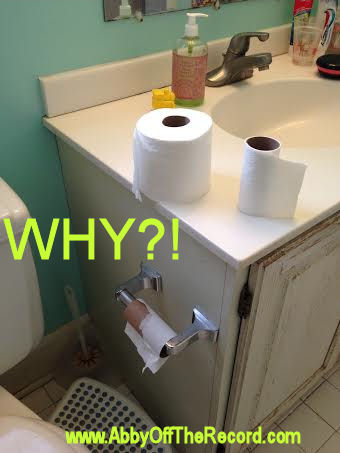 why can't guys replace the roll of toilet paper?