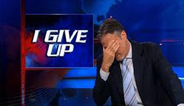 Jon Stewart: facepalm