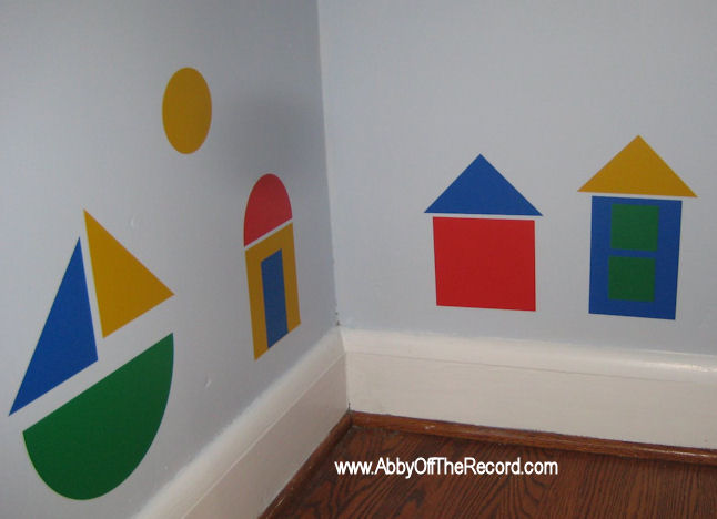 wall decals shaped like blocks