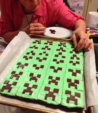 Minecraft Creeper Brownies
