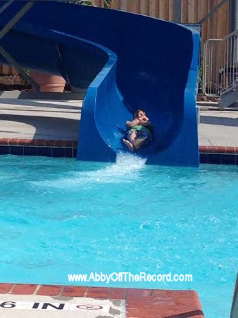 going down the waterslide