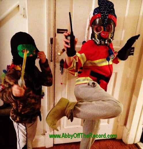 crazy costumed kids