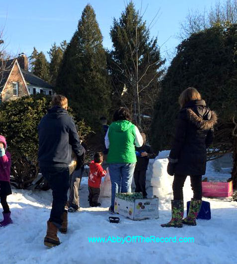 Our all-ages igloo-building crew