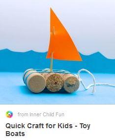 DIY wine cork boats