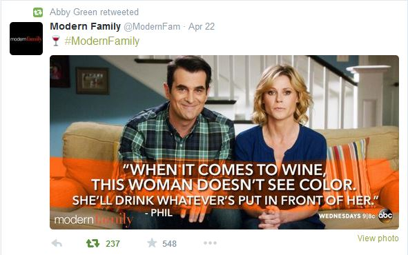 Modern Family wine joke