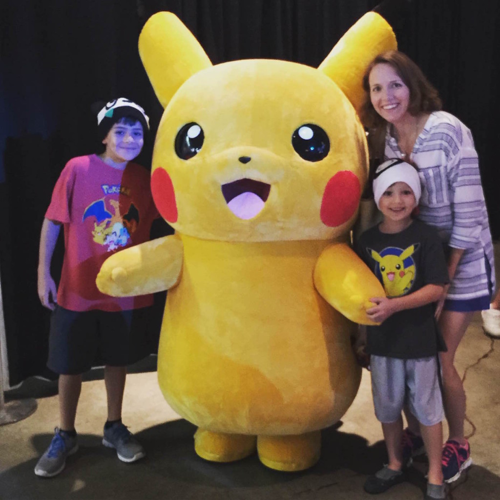 Meeting Pikachu at the 2015 Pokemon World Championships