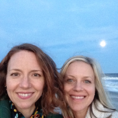 Angie and me on Folly Beach in Charleston