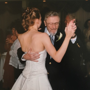 Grampy and me dancing at my wedding