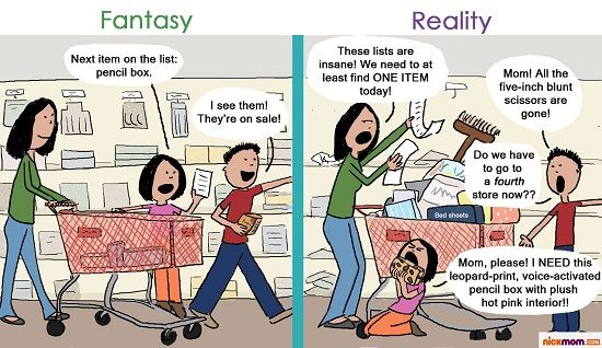 back to school shopping comic