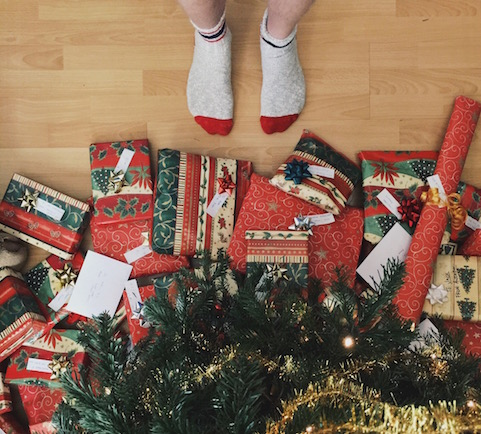 Christmas gifts under the tree. Photo credit: Andrew Neel, Unsplash.com